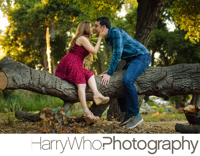 Adorable Engagement Photo at Stanford University