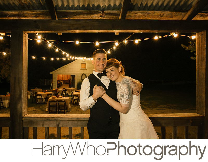 Great nighttime Wedding Photo taken at a Radonich Ranch Wedding