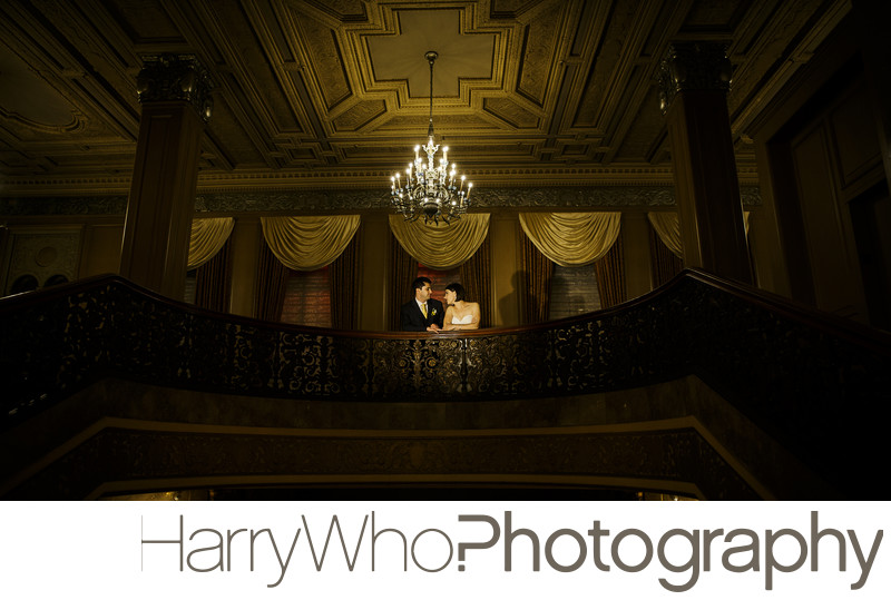 Great nighttime wedding image at Sir Frances Drake Hotel SF