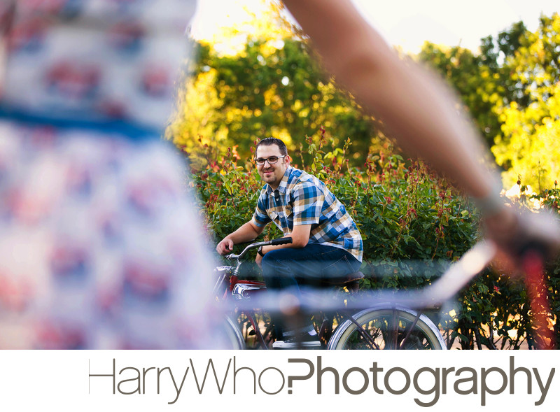 Engagement Image at Santa Clara Rose Garden