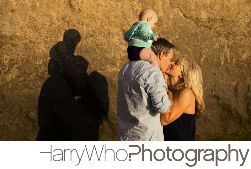 Loving Family Image on Santa Cruz Beach