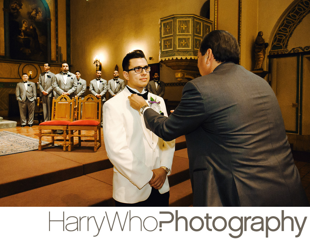 Wedding at Santa Clara University Mission Church 01