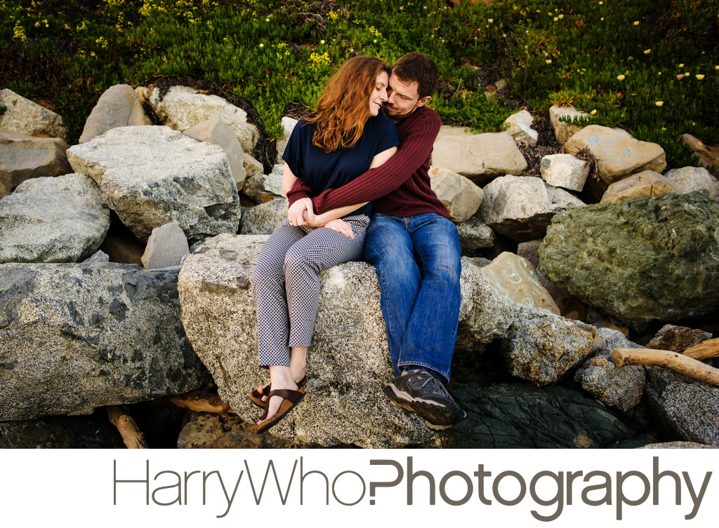 Naturally beautiful engagement photo