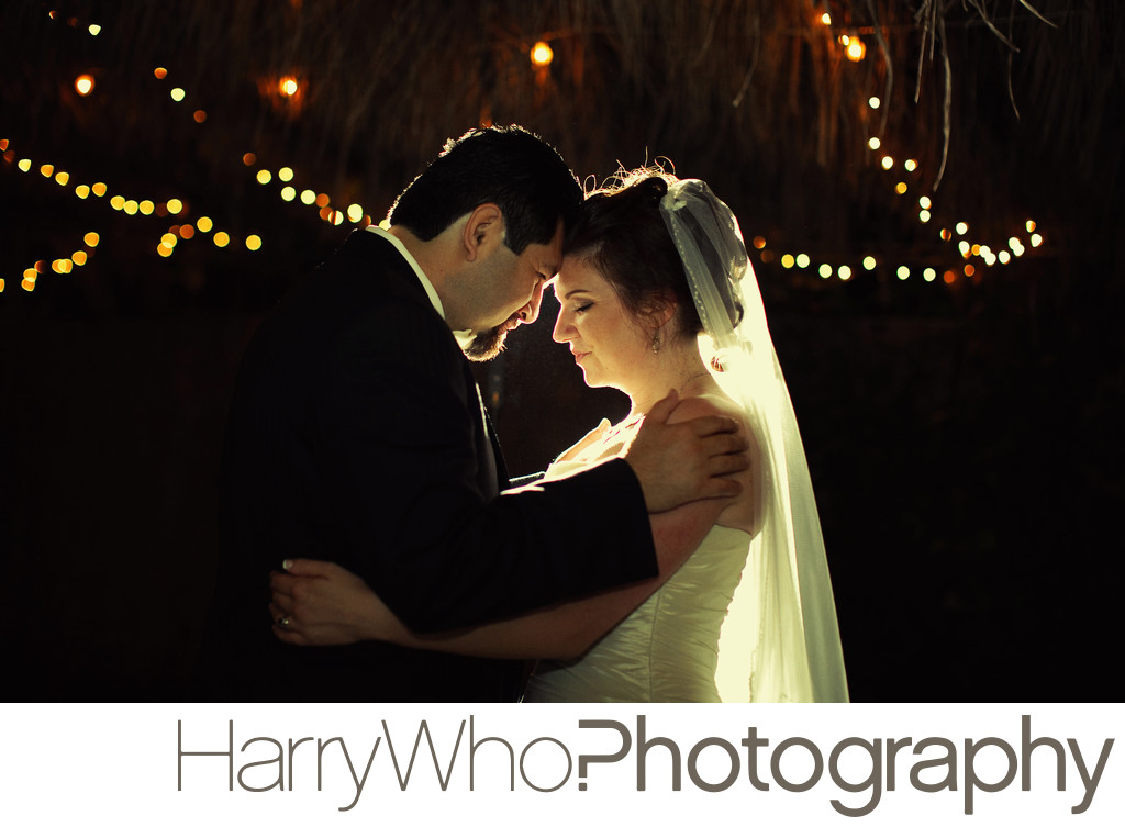 Romantic image of a Wedding couple