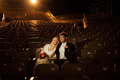 Great nighttime wedding photo Mountain Winery Saratoga