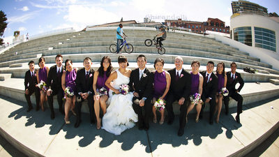 Fun Wedding Bridal Photo in San Francisco
