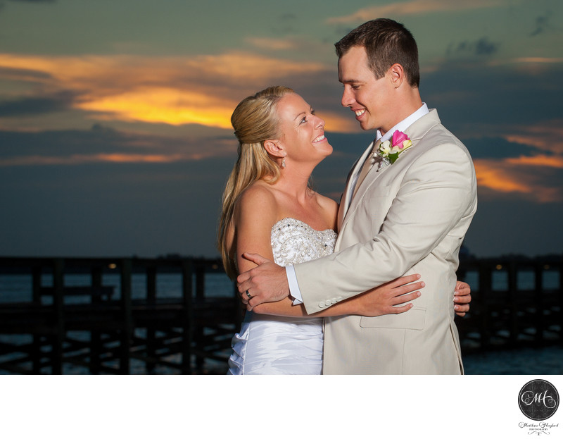 Bride & Groom Ryckman Park Melbourne Beach Florida
