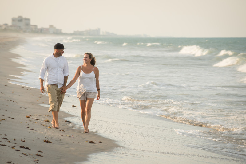 Beach Engagement Session Melbourne Florida