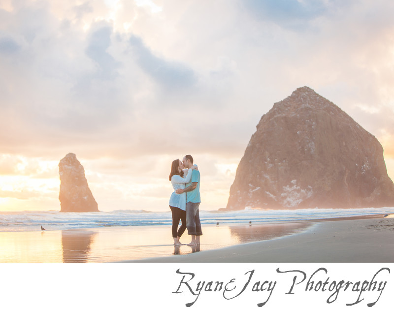 Engagement Photograph Cannon Beach