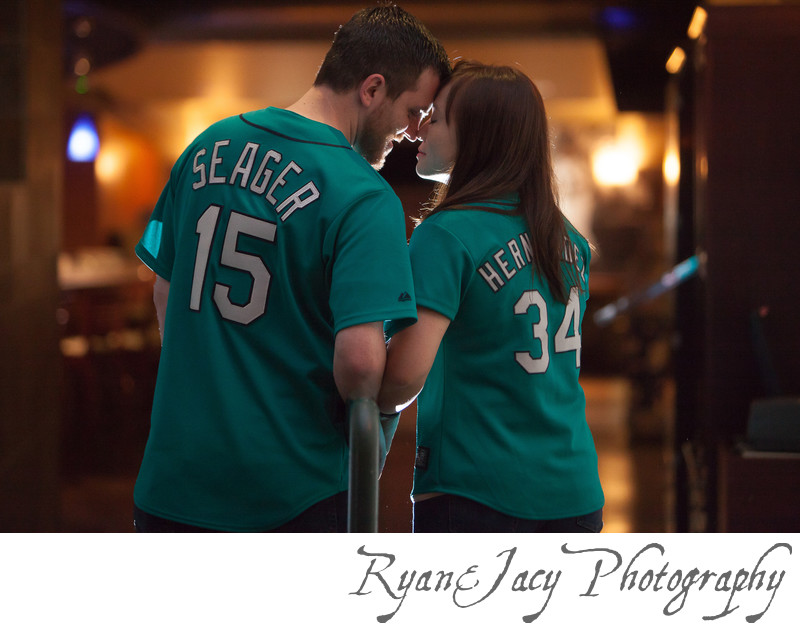 Engagement Pictures Safeco Field Seattle