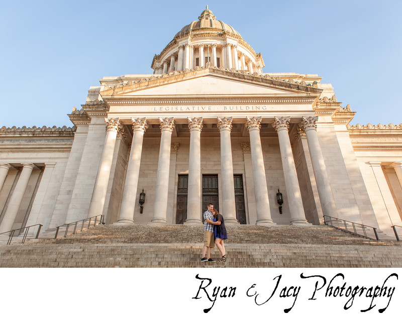 Engagement Photographs Olympia Capitol Building