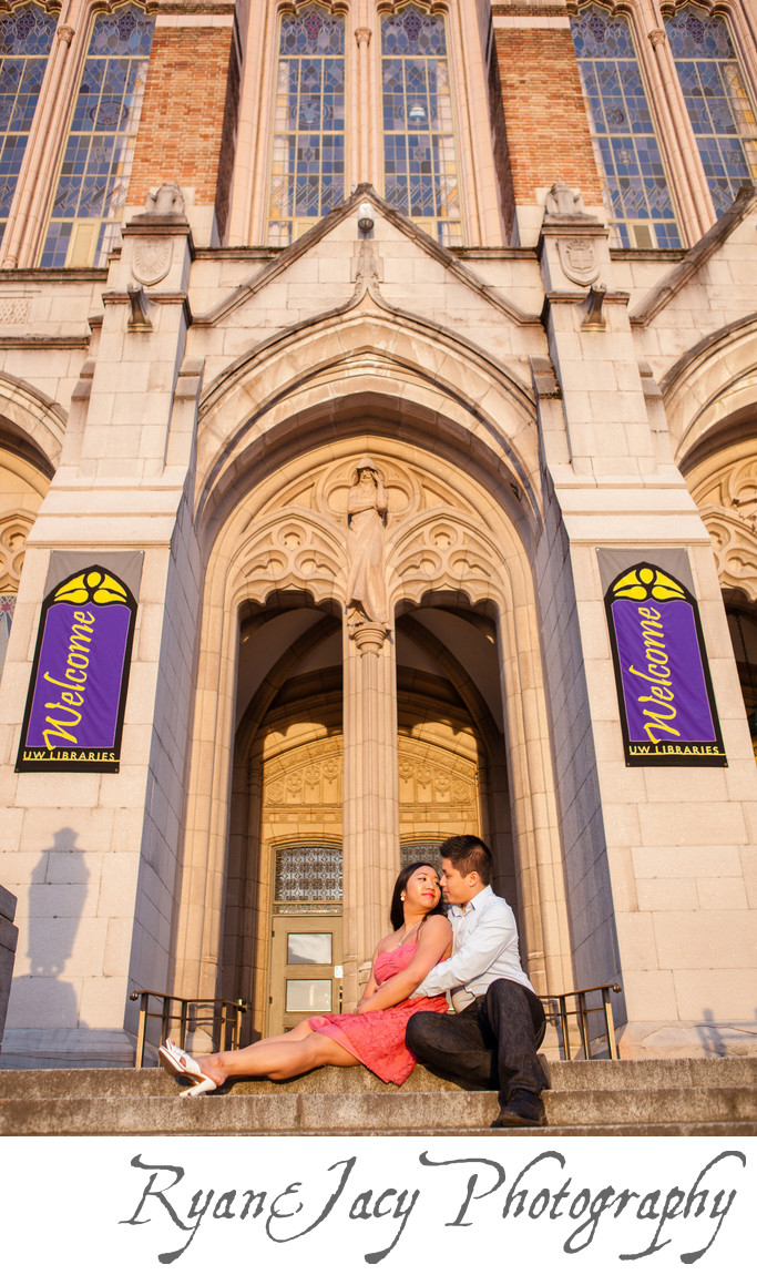Engagement Photographs Seattle UW