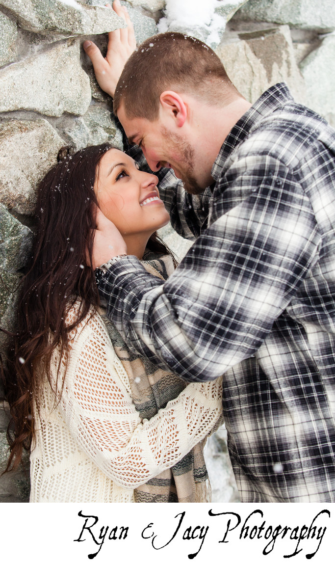 Engagement Pictures Snow