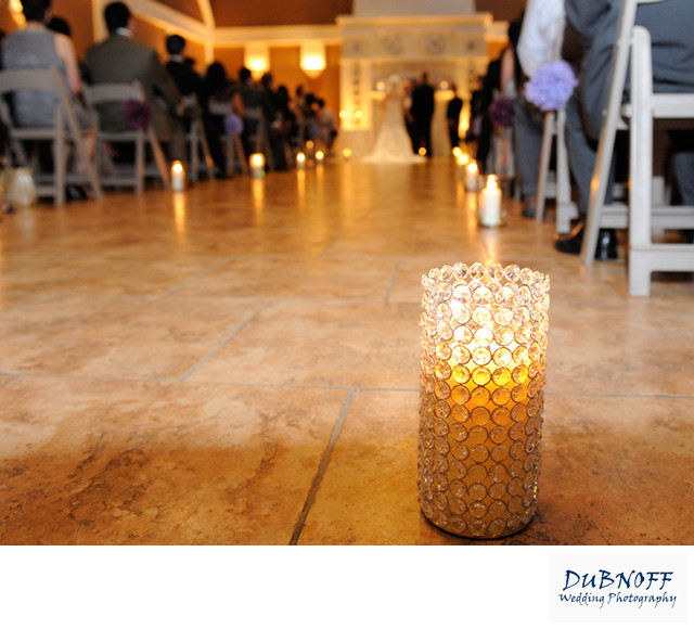 Candlelight Ceremony at Casa Real Wedding Venue