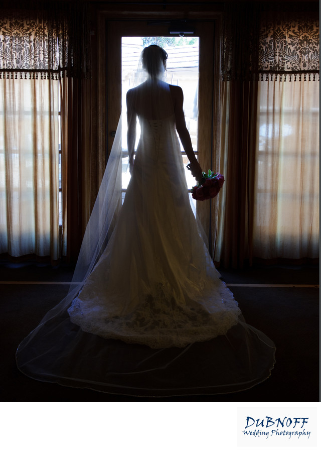 blackhawk silhouette window image during bridal prep