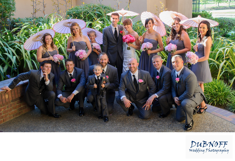 bridal party photography at blackhawk Country Club