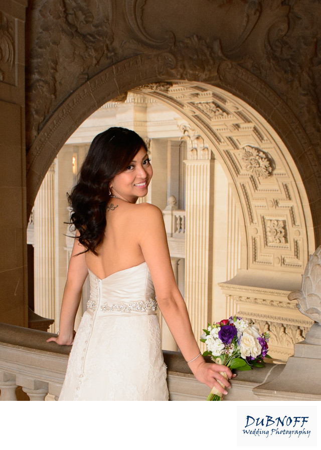 San Francisco City Hall Bridal Portrait Photography