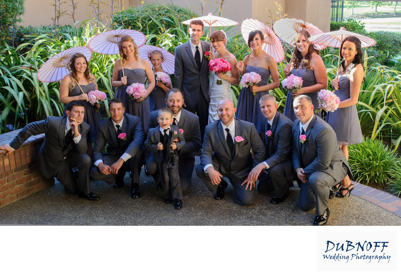 fun bridal Wedding party in Danville, California