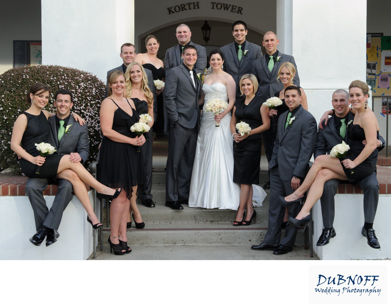 Saint Mary's Church Wedding Party Image - Bay Area