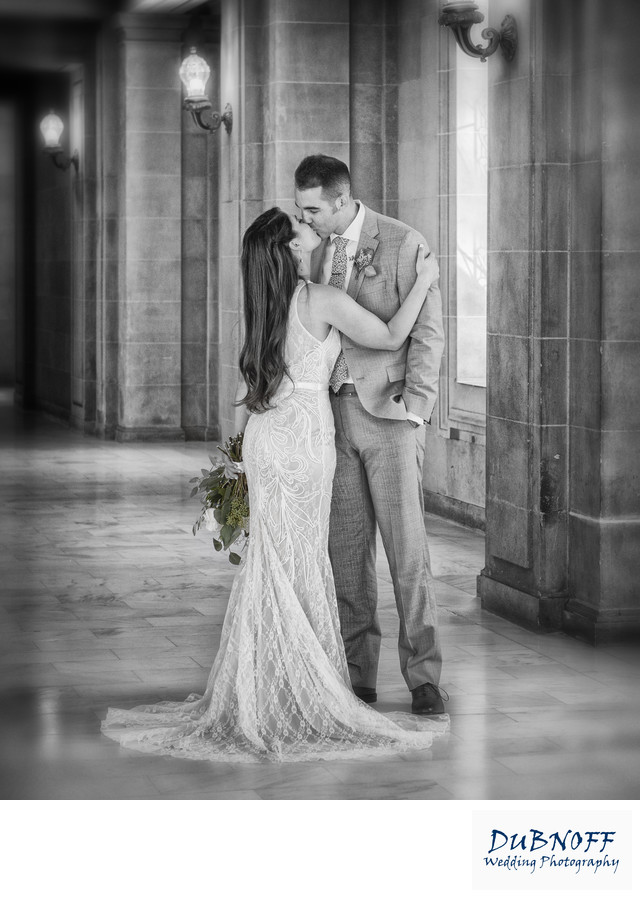 San Francisco City Hall Wedding Photo - Black and White