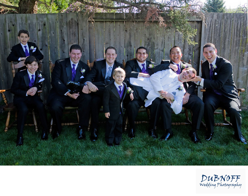 Best Wedding Photography of the Groomsmen having fun.