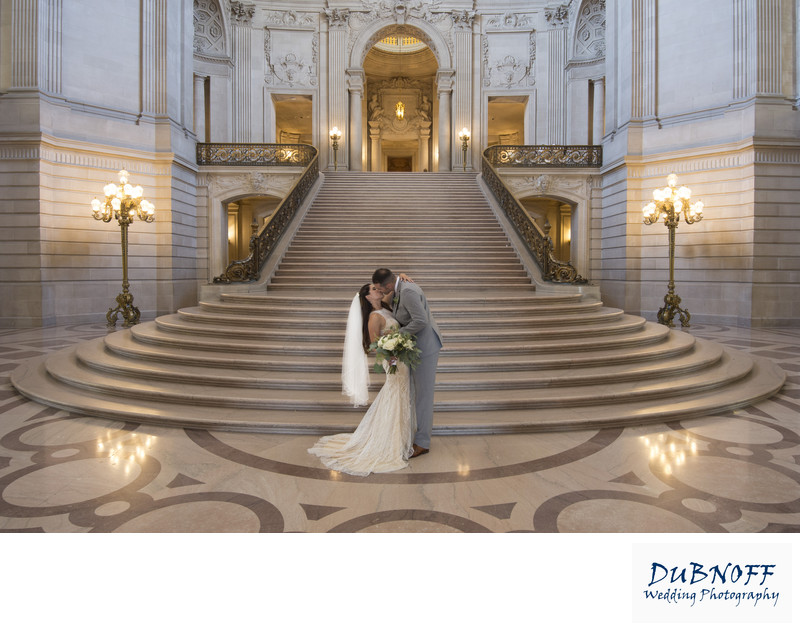 Wedding Photography at the grand staircase city hall