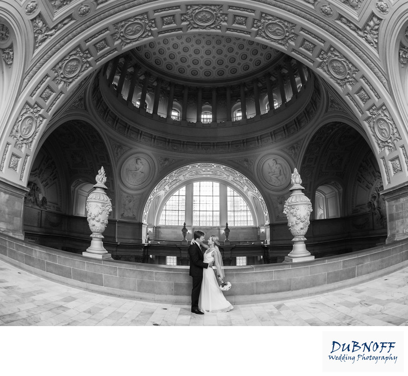 San Francisco City Hall Wedding Photographer - Wide Angle Image
