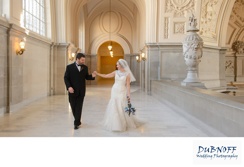 candid wedding photography at San Francisco City Hall
