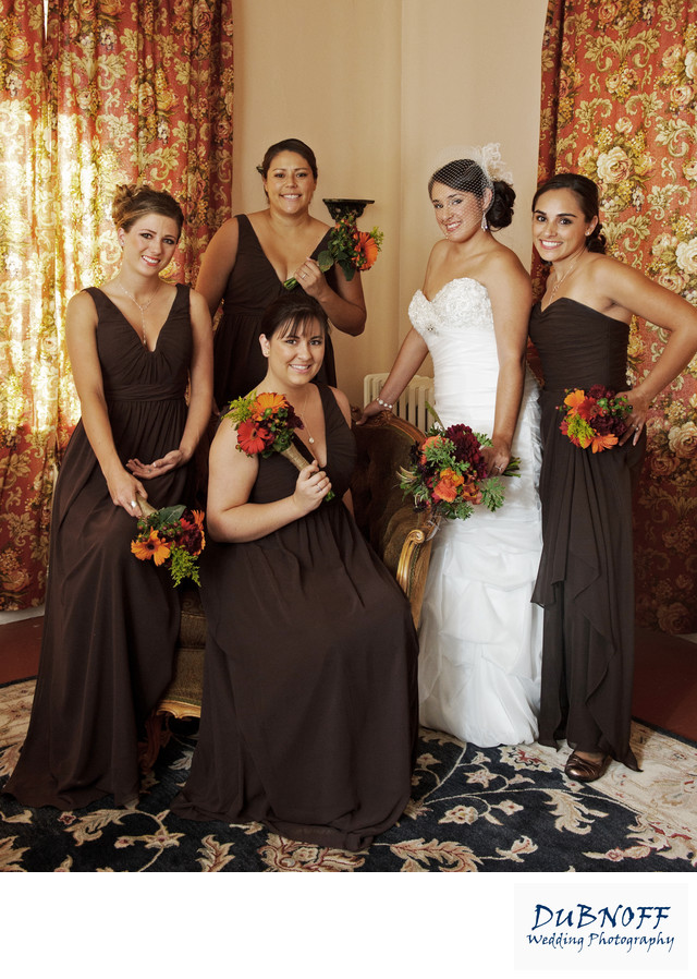 Attendants cute pose with the Bride at the Berkeley City Club