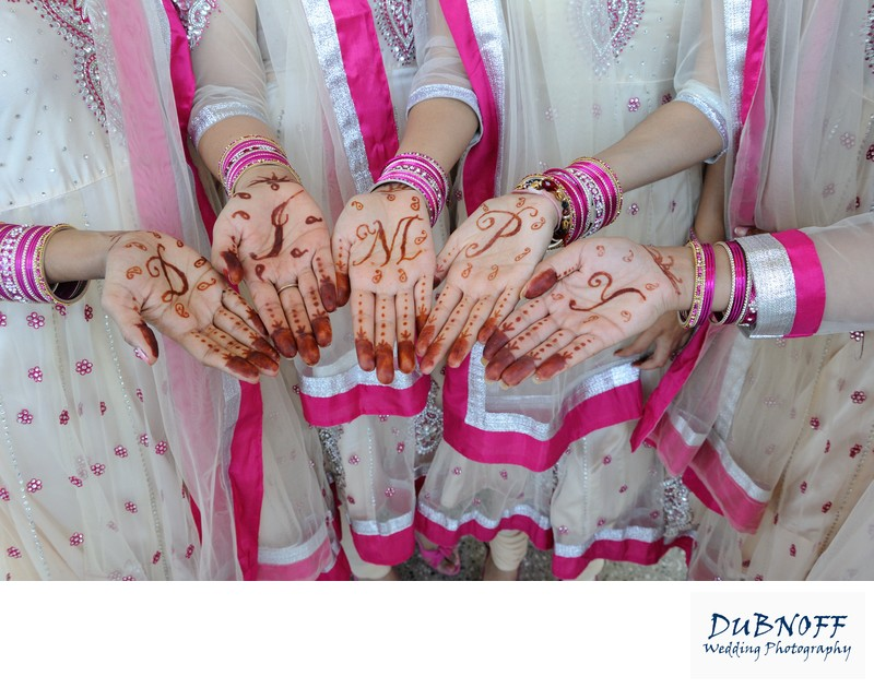 Image of  henna hands before the San Francisco Indian Wedding