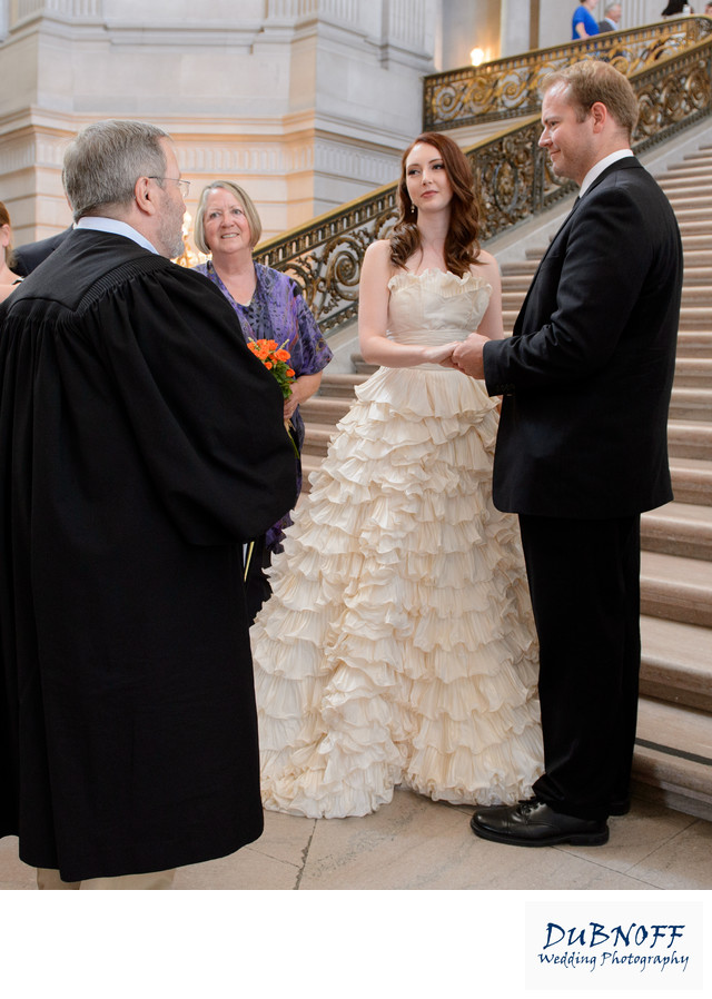 Civil Ceremony on Grand Staircase at San Francisco City Hall