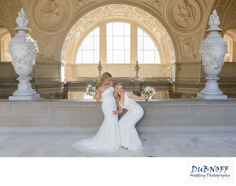 LGBT Brides San Francisco Wedding with Same Sex Couple