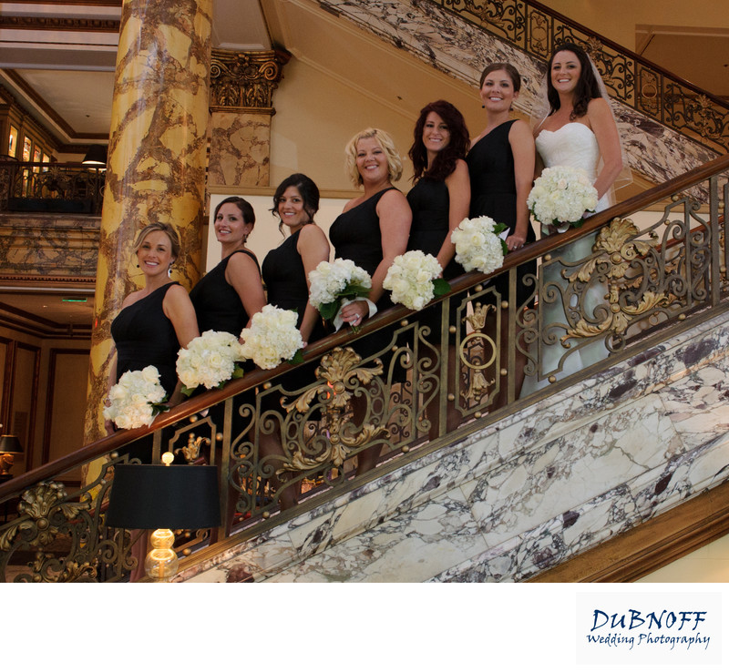 Wedding girls at the fairmont hotel in San Francisco