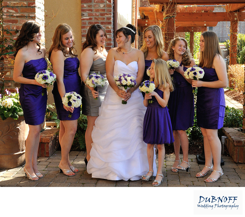Bridesmaids Laughing at a Livermore Winery