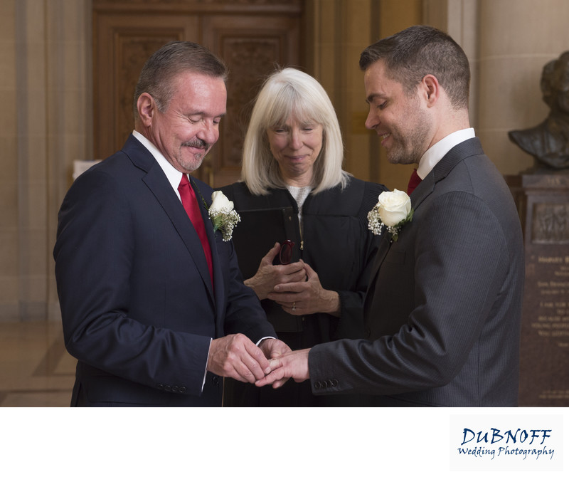 San Francisco City Hall Wedding Photographer - Same Sex Rings