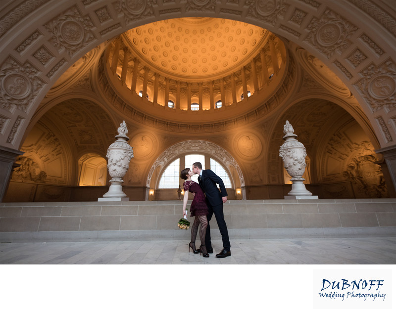 Wedding Photographer City Hall - Wide Angle Image