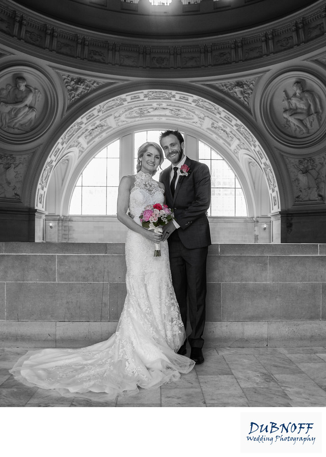 Black and White Wedding Photography with Areas of Color