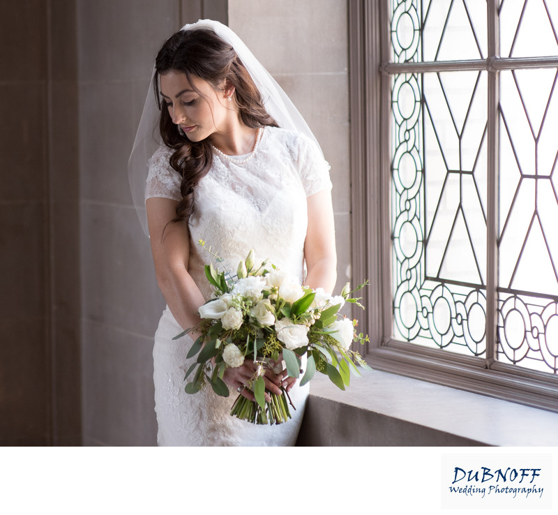 San Francisco City Hall Wedding Photographer - Window Bride