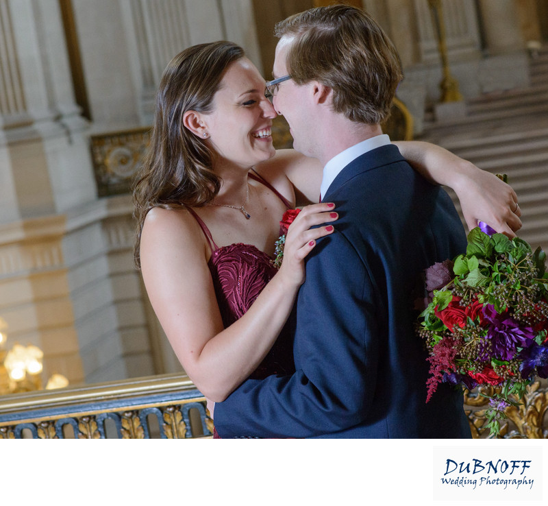 San Francisco City Hall Wedding Photographer - Fun and Romantic