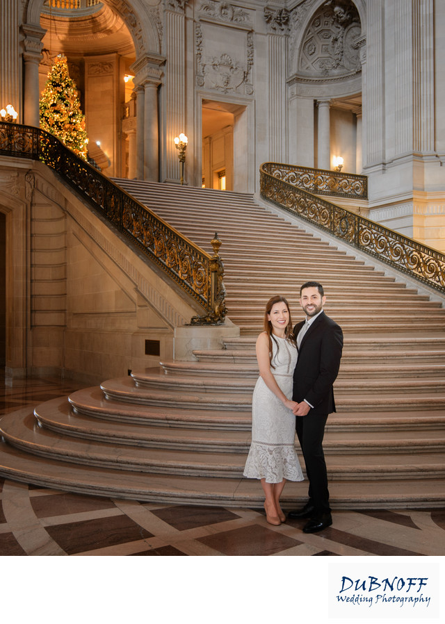 San Francisco City Hall Wedding Photographer - Christmas Time