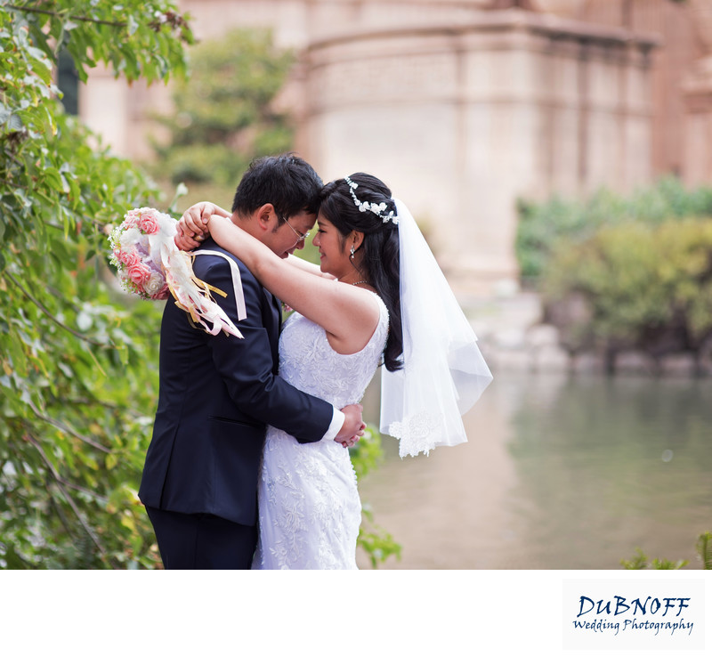 Asian Wedding Photography with Palace of Fine Arts in San Francisco
