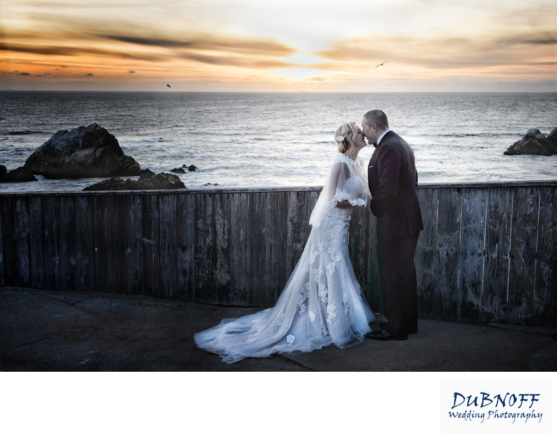 San Francisco Sunset at a Cliff House Wedding by the Ocean