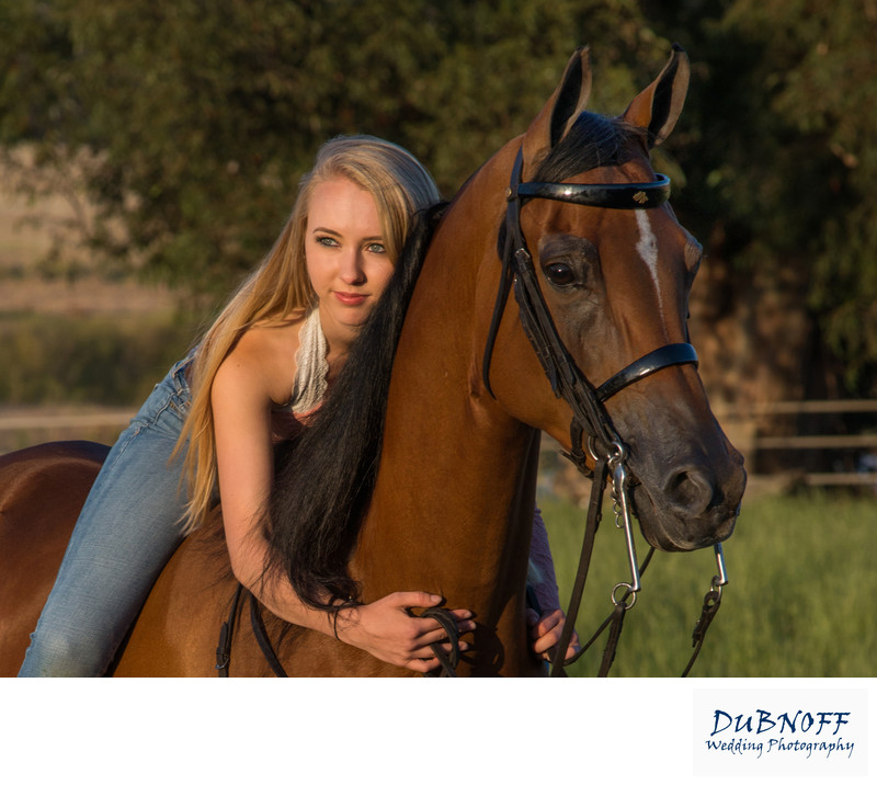 Dreamy  Horse with Owner Portrait Photography