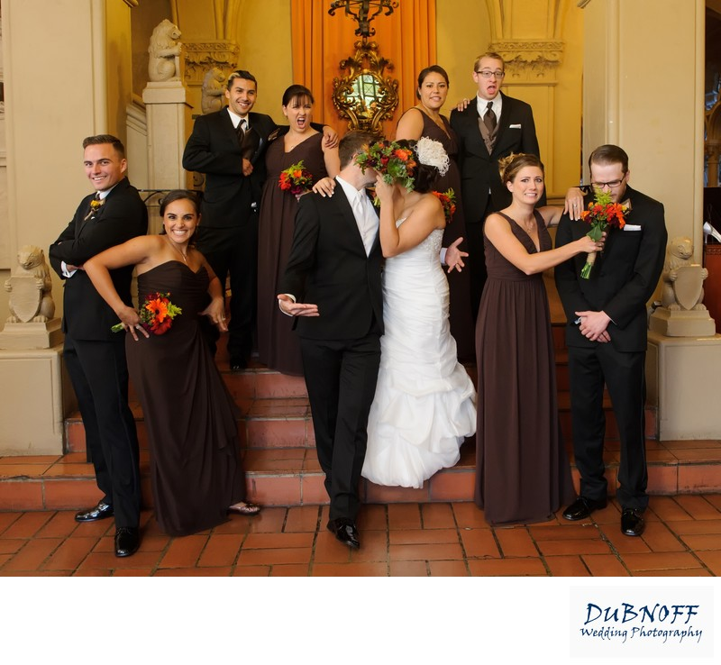 Fun Wedding Photography of the Bridal Party at Berkeley City Club