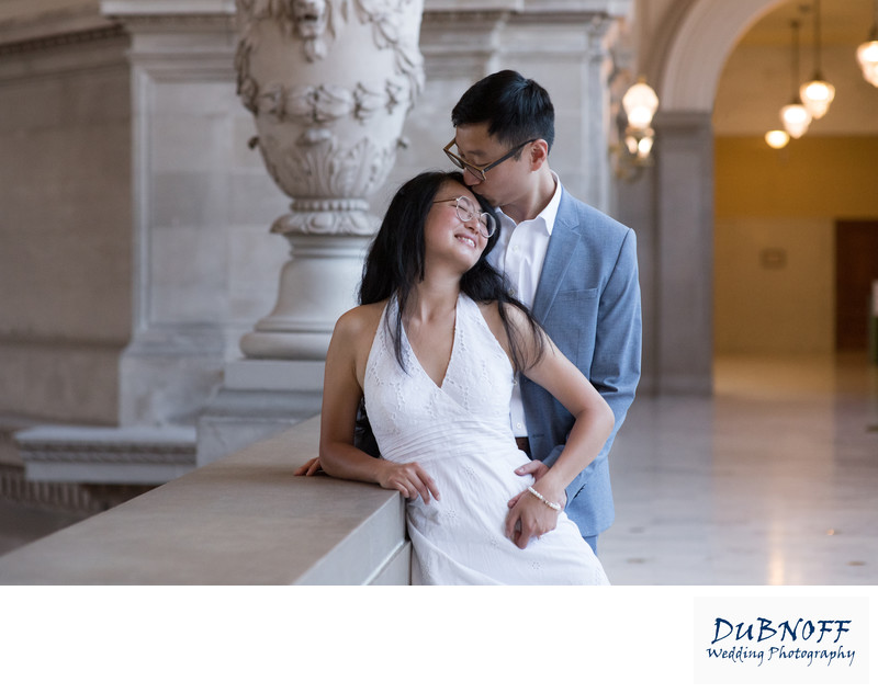 Asian Wedding Photography Kiss at SF City Hall