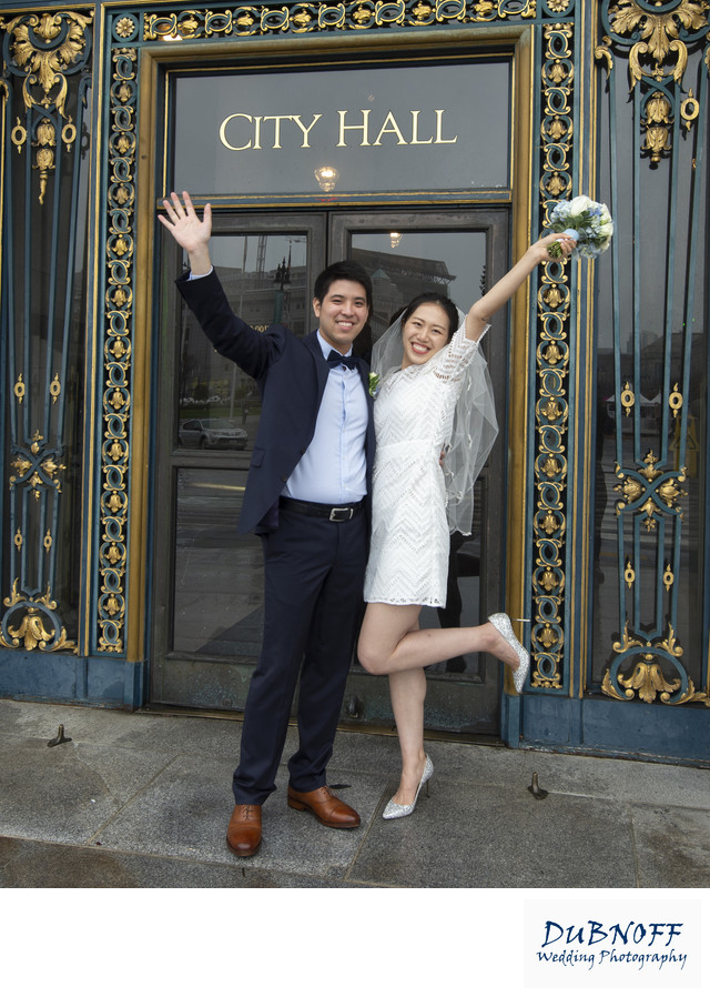Fun Asian Couple Celebrate their SF City Hall Nuptials