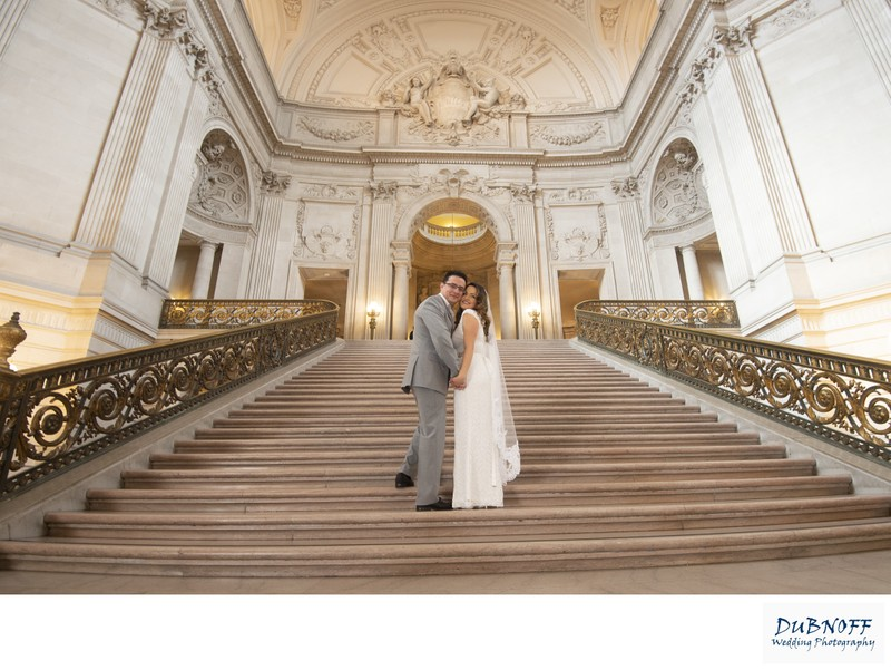 Grand Staircase Image SF City Hall - Wedding Photography