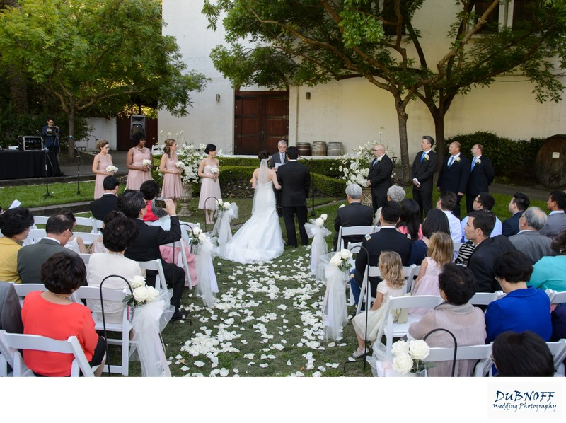 Wedding Ceremony Photography at Wente Vineyards in Livermore