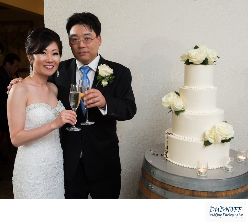 Wedding Cake Toast at Wente Vineyards in Livermore, California