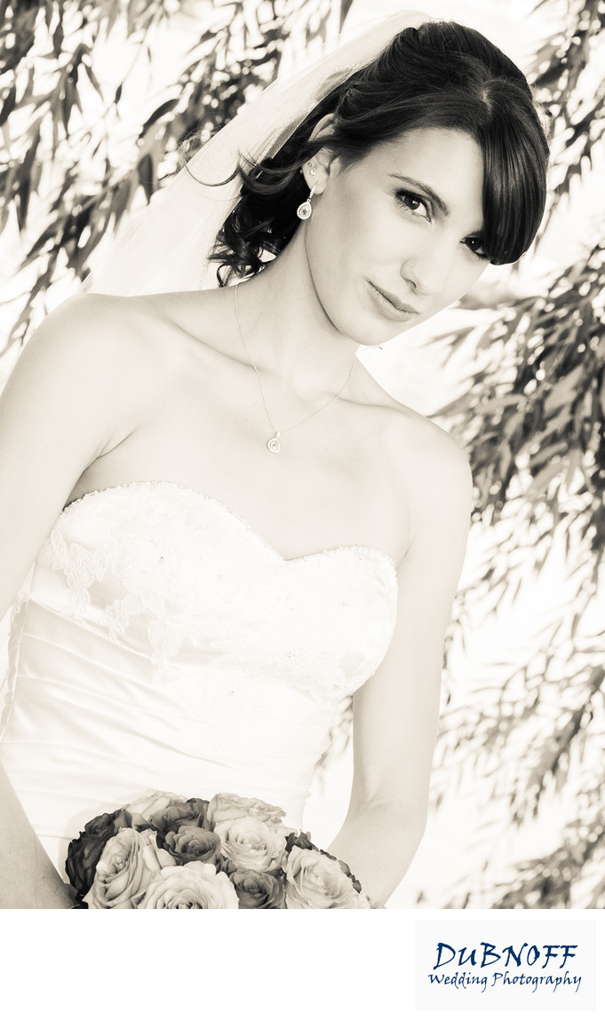 bridal bouquet photography sepia tone in the Bay Area